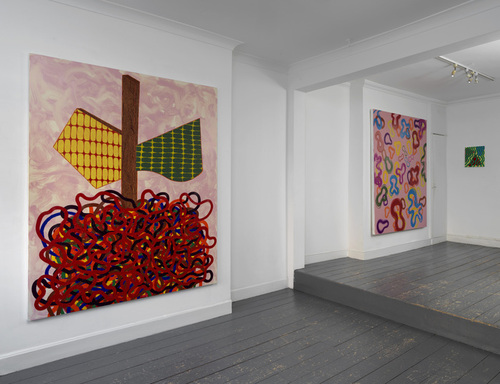 Here Today and Tomorrow, left + Juicy Jelly Baby Roll, right @ Patrick Heide Contemporary Art